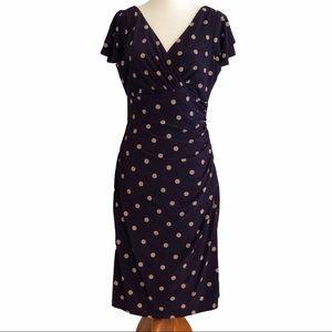 Anne Klein, NWT, Polka Dot Faux Wrap Dress